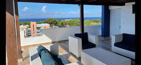 Stunning Ocean View Penthouse with Private rooftop