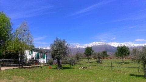 La Galana. Romántica cabaña unifamiliar con vistas