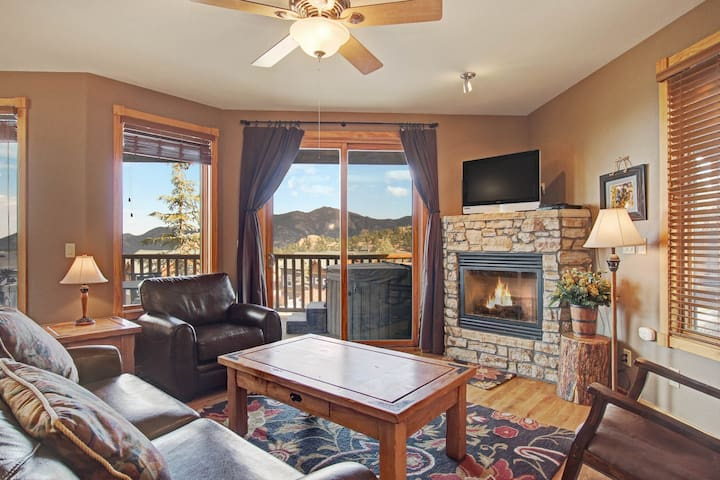 Sheep Mountain 20B - 2 Br condo with private hot tub, Marys Lake and mountain views!