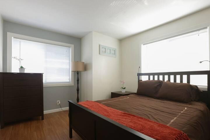 Bright cozy bedroom