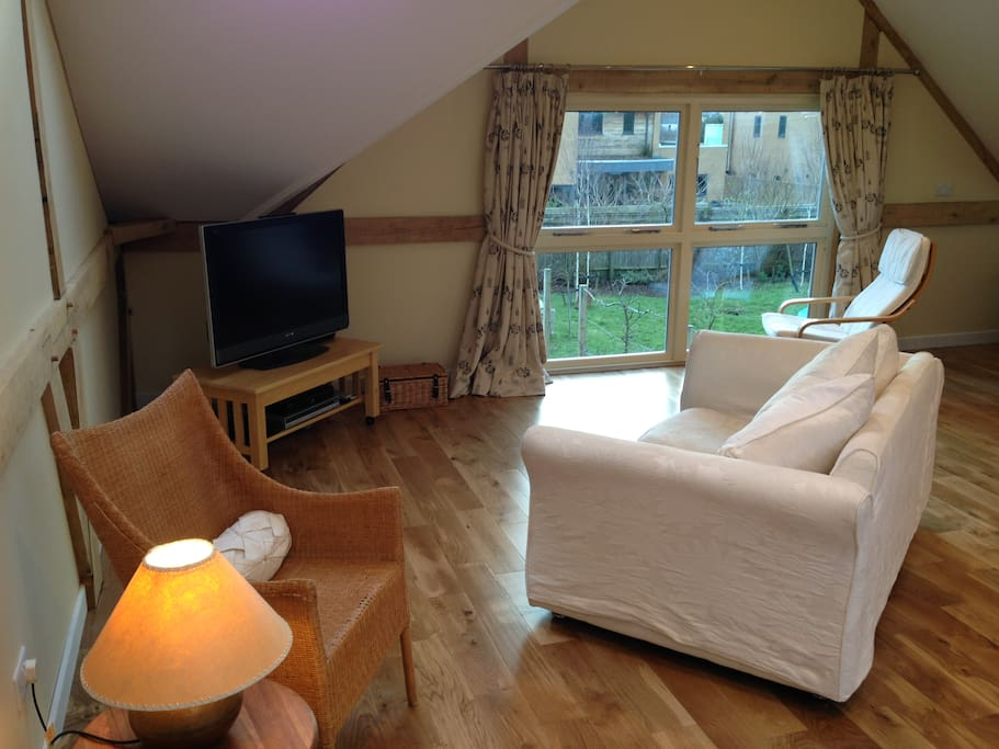 Cosy seating area and large TV