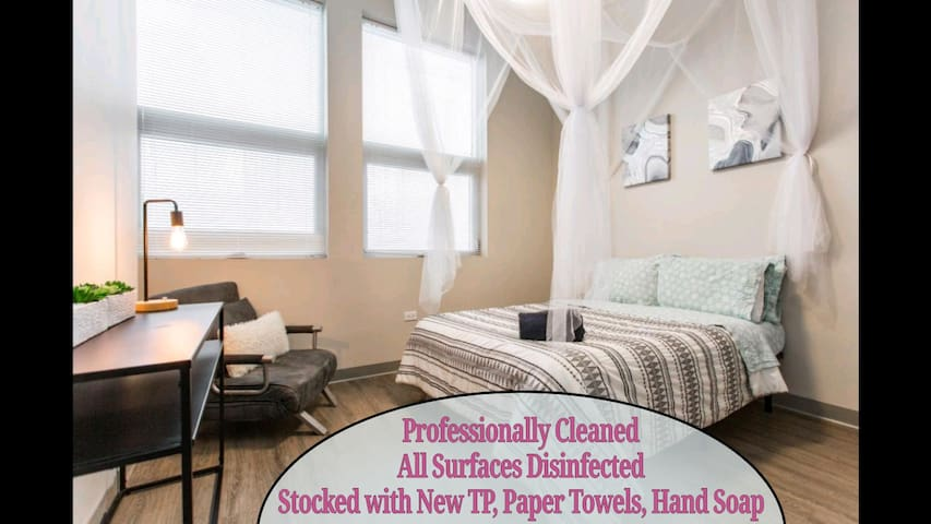 CDC Clean❤️2bd Home +Private Balcony