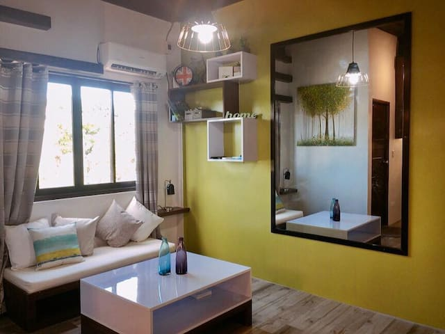 Cozy living room with inverter aircon