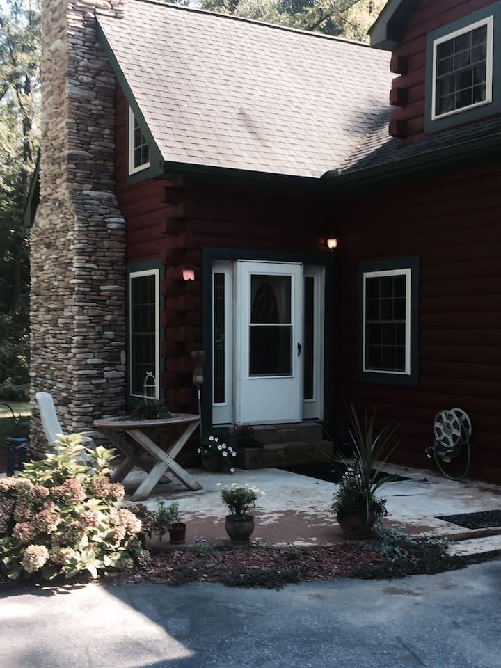 Modern 2-Story Log House