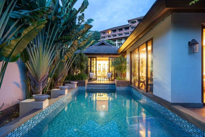 亚龙湾三居室独栋泳池别墅,三天赠送接机,五天赠送接送机,亚龙湾景区免费接送