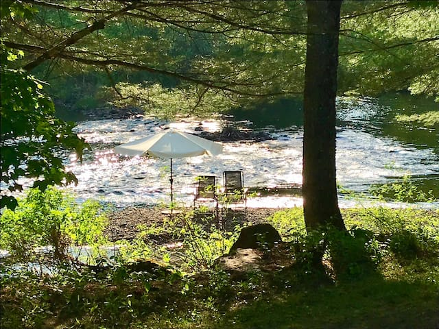 Our island in the river – come sit and enjoy the soothing sounds of nature ...