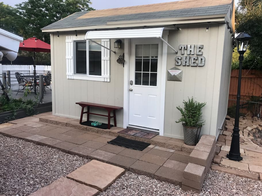 The shed is a unique little Retreat from the busy life, to get ready to rest for adventure.
