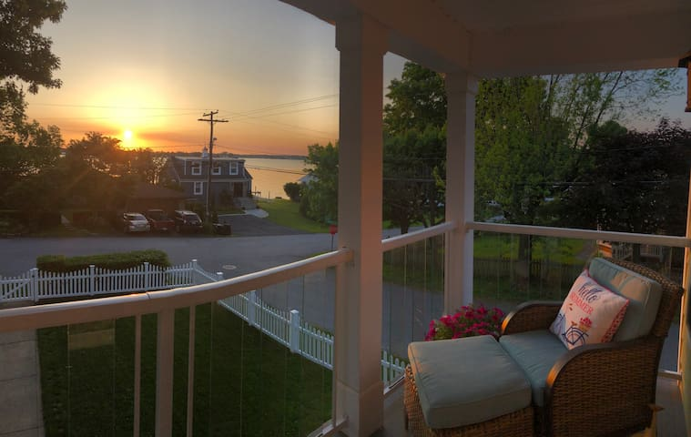 Balcony off master bedroom! Coffee and a sunrise anyone?