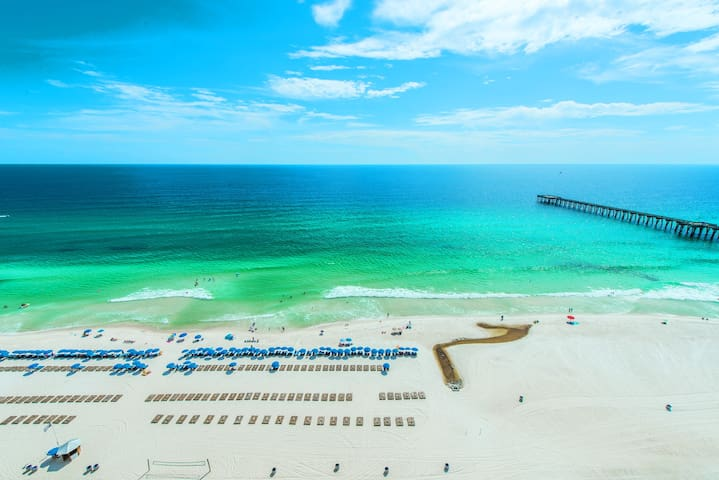 BeachFront for 6! Huge Pools-Pier Park-☀️Inspected & Disinfected☀️Calypso 2-1907