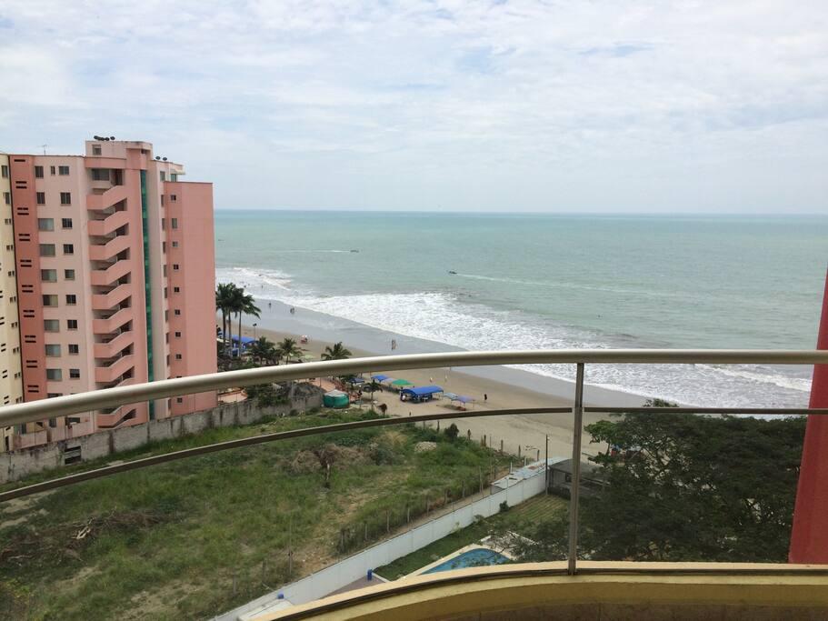 Balcony, beach view, 9th floor