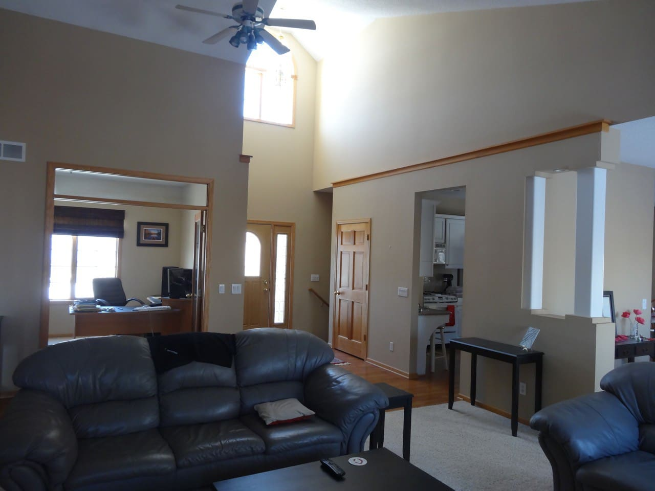 Large open main floor with lots of natural light.