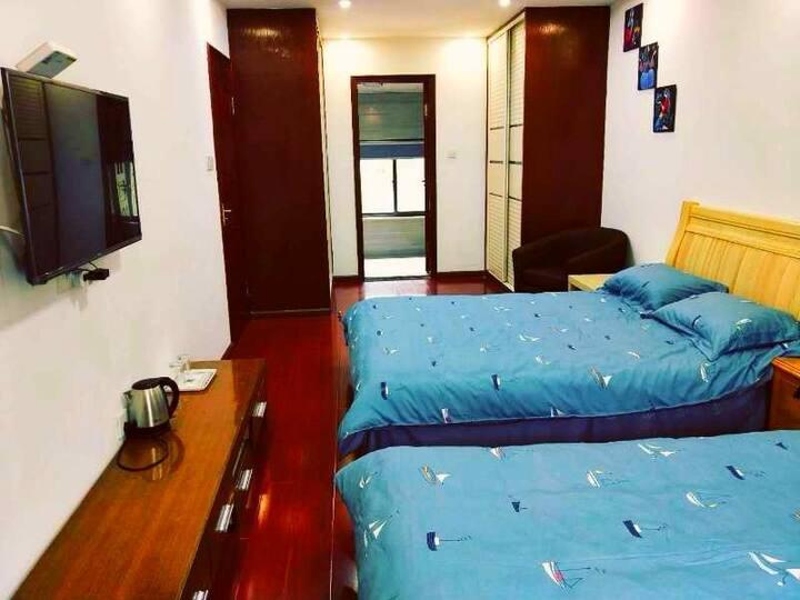 宁波九龙湖风景区山水竹林双床房