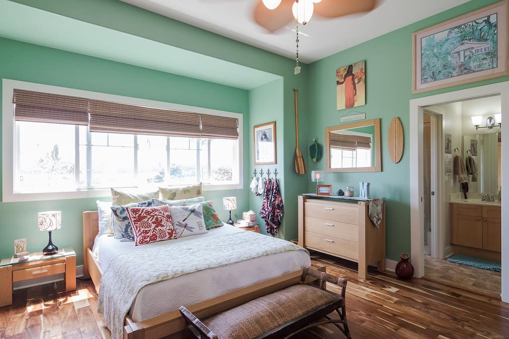 Large Bedroom overlooking golf course.