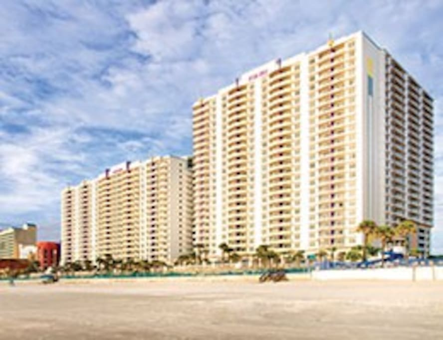 Ocean Walk 1 Bedroom Deluxe Suite By Wyndham Condominiums For Rent In Daytona Beach Florida