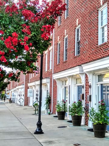 The Southside Neighborhood in downtown Greensboro has a cafe, yoga studio, hair salons, a popular restaurant, all seconds from your doorstep.   Just a block away is the S. Elm St. area, the most vibrant part of downtown Greensboro!