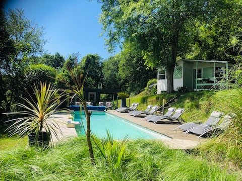 Riverside chalet nr Biarritz with heated pool (3)