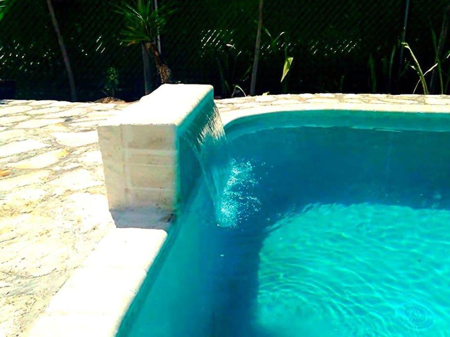 Private Pool Fountain