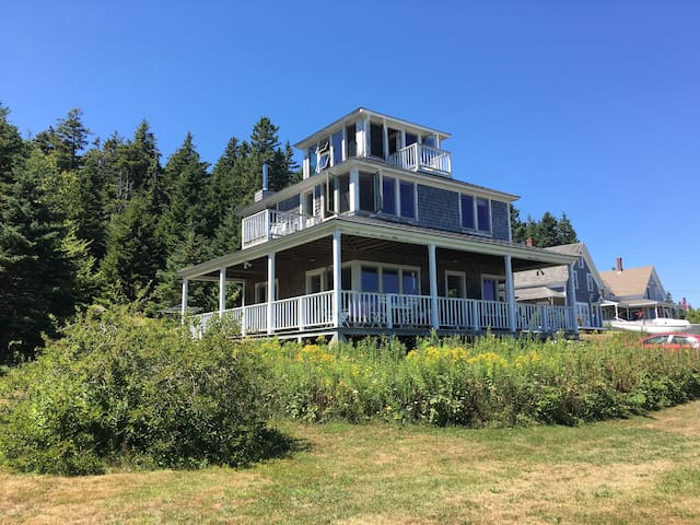 Harbor View: Modern Cottage on Swans Island - Swans Island - Huis