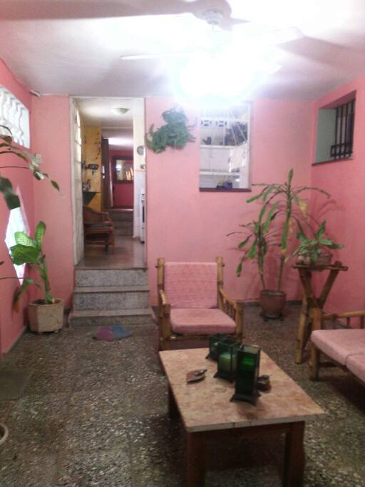 La entrada de la casa