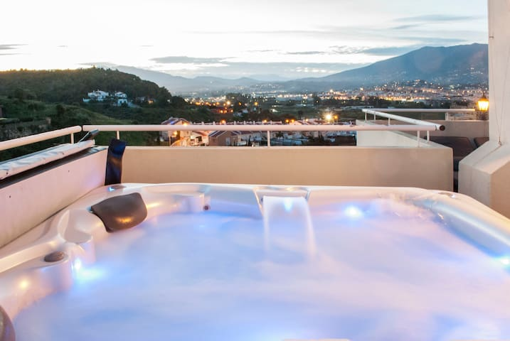 Jacuzzi views from the 4BR penthouse