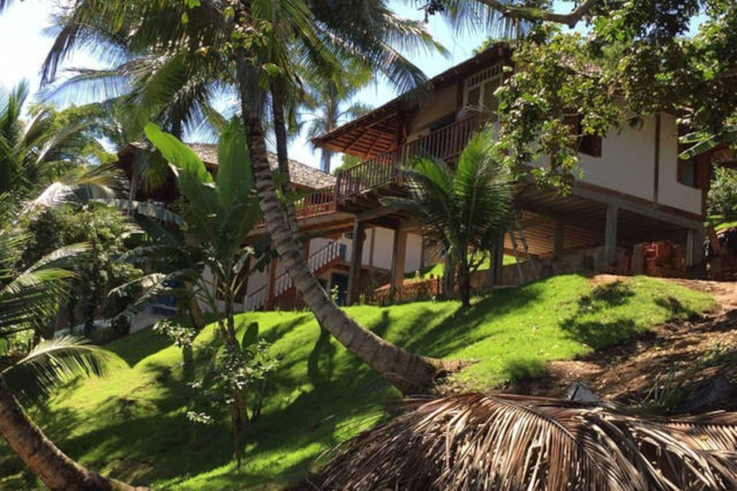 House and Coconut Trees