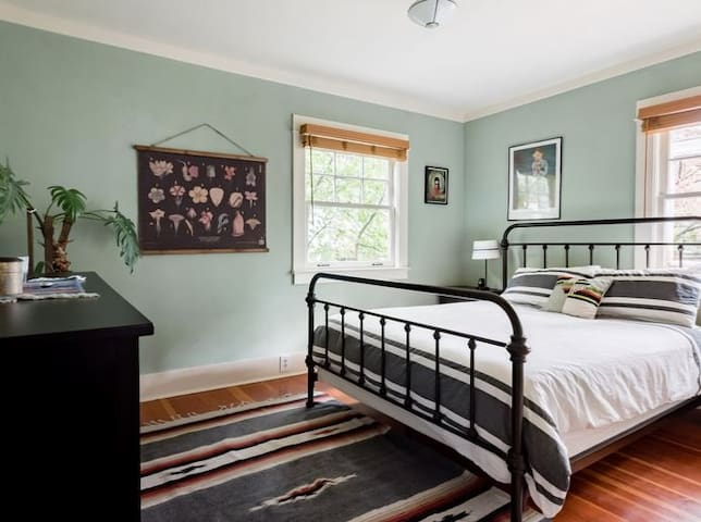 Bedroom/private bath/den in charming bungalow