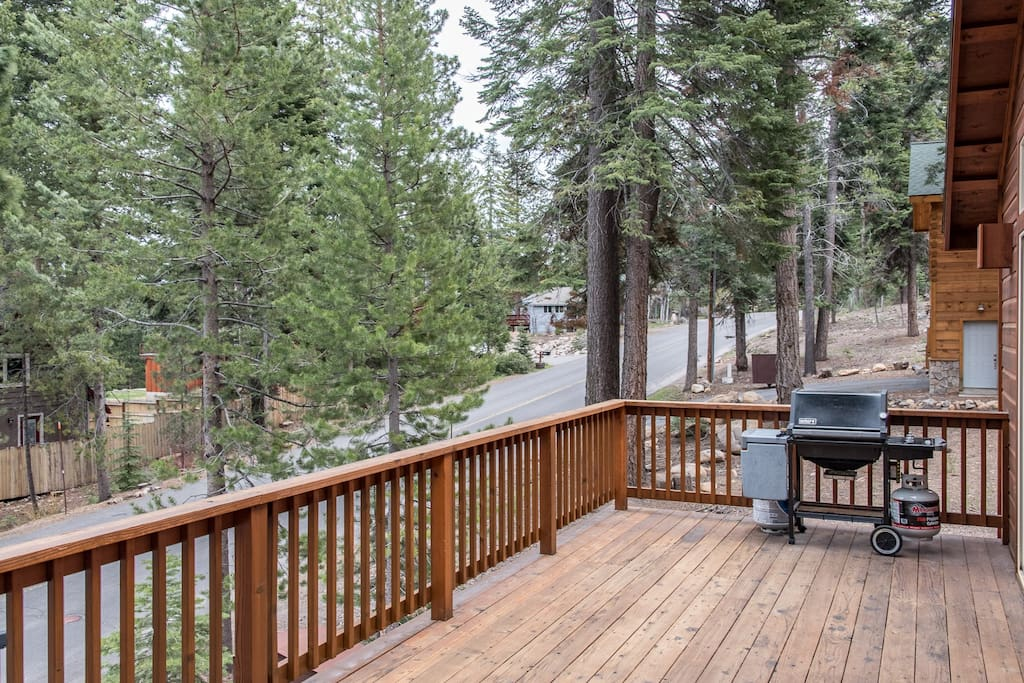 Fire up the grill on your private deck.