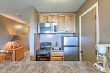 Your chef will love the stainless steel appliances.