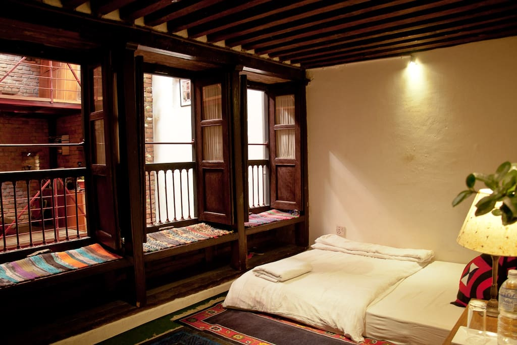 Single room in dhakhwa house a family newari house for Kitchen design nepal