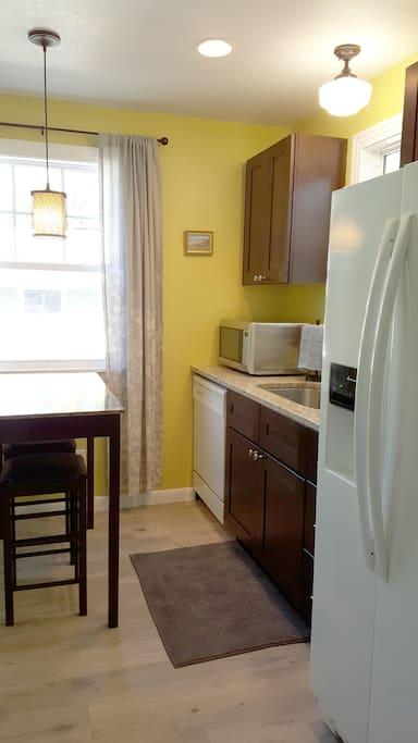 Kitchen with Dishwasher & Full-size Fridge