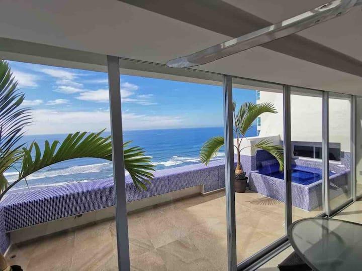 Penthouse Acapulco Diamante frente a playa