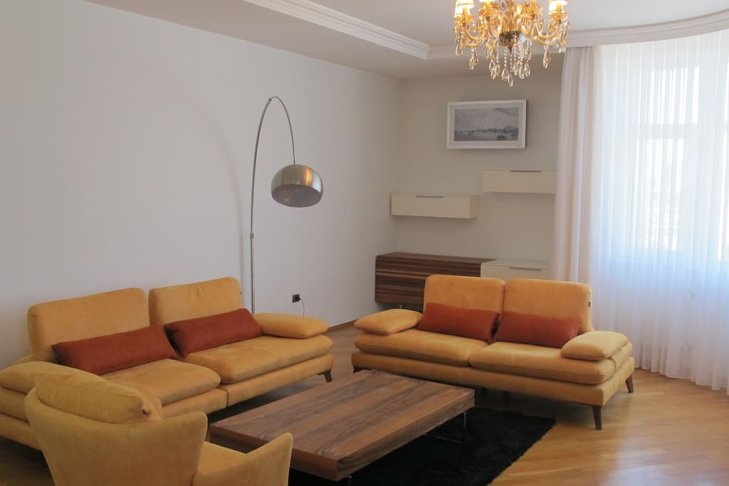 Comfortable sofa that can be used as additional sleeping place for 2 persons