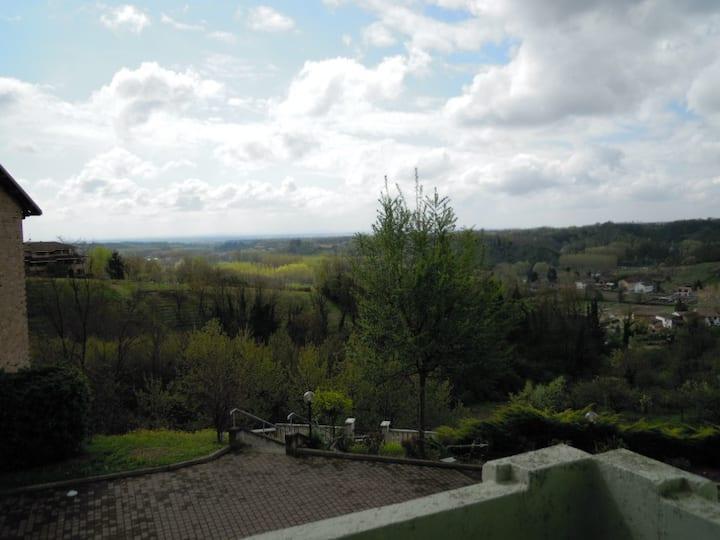 Panoramicissima casa sulle Colline del Monferrato