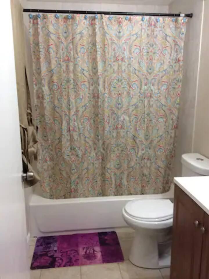 Cambridge Center 3rd fl Back Bedroom Private Bath