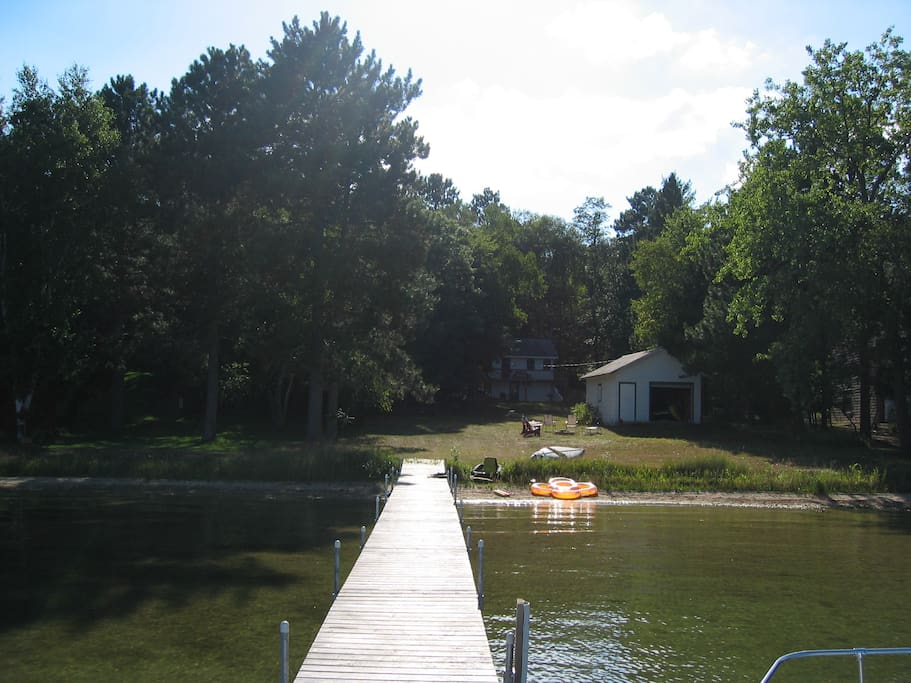View from the dock back toward the house.