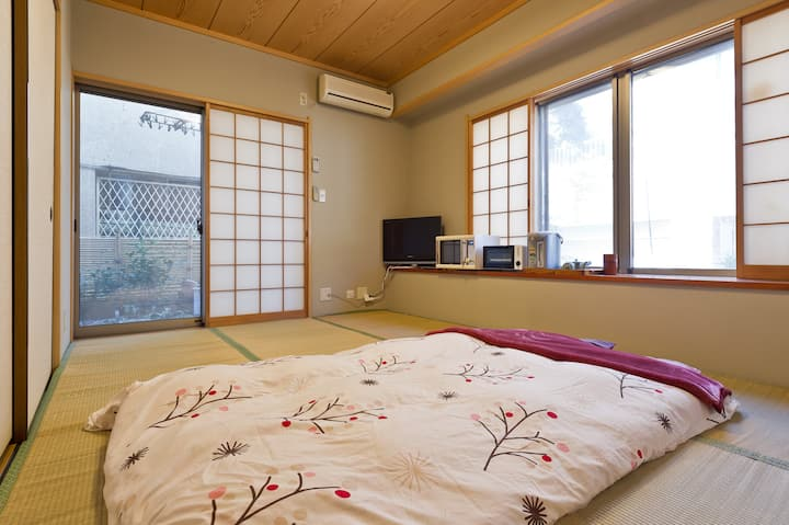 Simple Japanese style room with good access