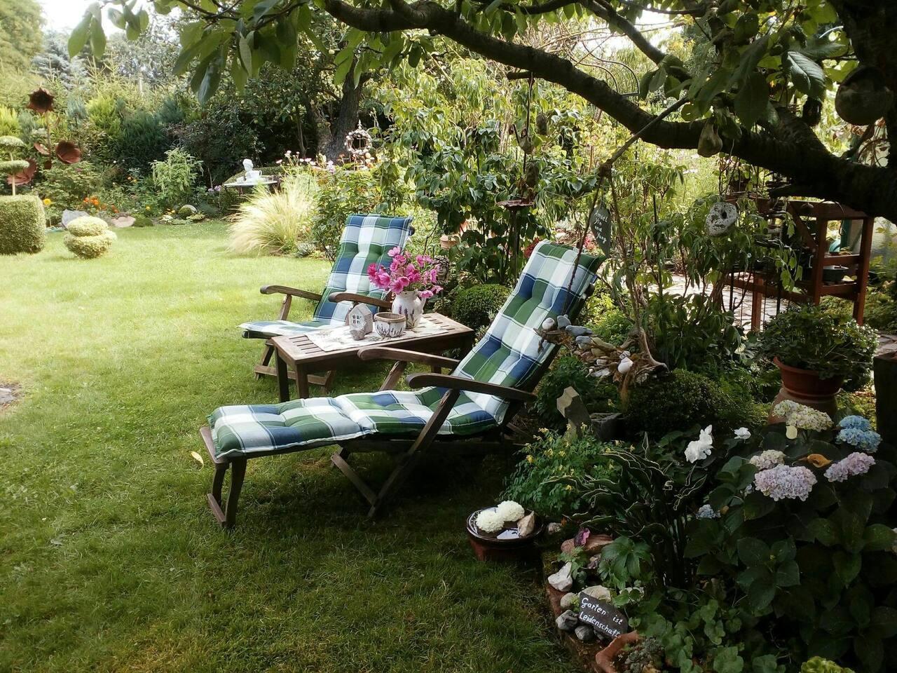 Liegewiese im Garten