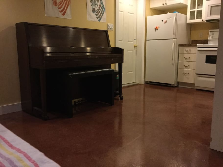 there's a piano in the kitchen. Who knew?