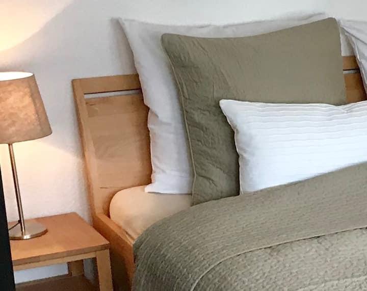 Apartment Tilia, (Freiburg), Apartment Tilia, 38qm, Balkon, 1 Wohn-/Schlafzimmer, max. 4 Personen