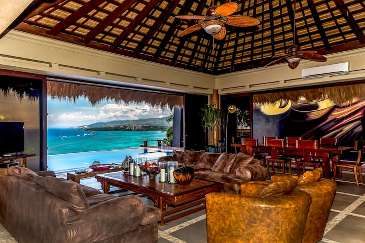 Comfortably soft Italian leather seats while taking in the pristine view will make your stay at the villa an unforgettable one.
