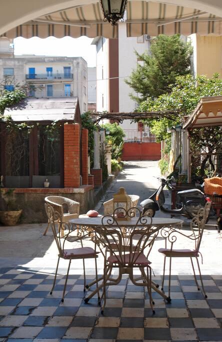 Terrace of Casa Curia