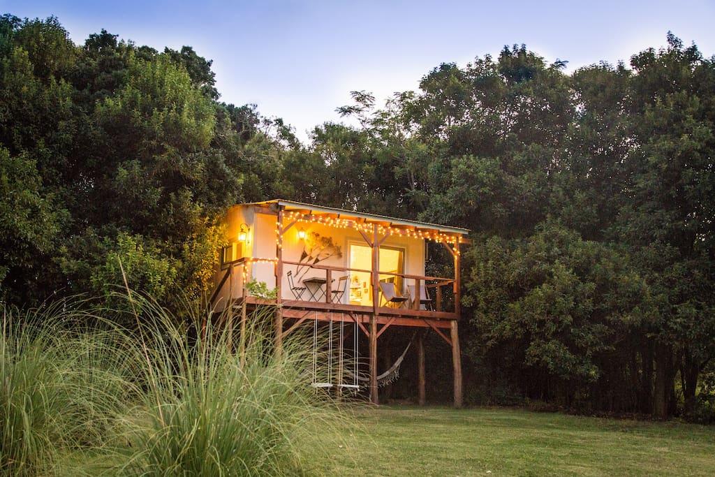 El nido casa del rbol treehouse casas en el rbol en for Alquiler casa arbol