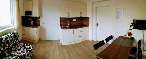 Nový apartmán na okraji města.