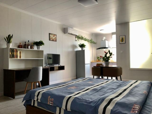 50平超大一室户 46平天井采光房