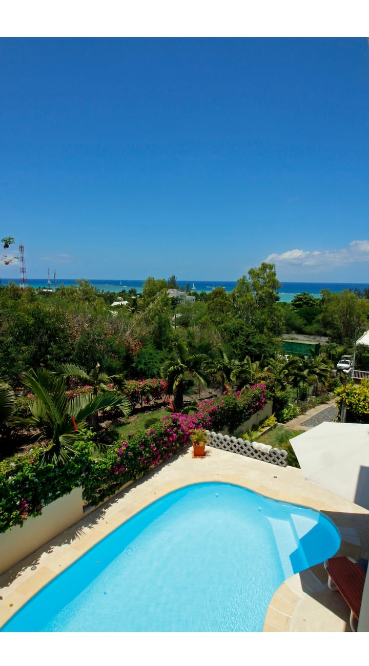 Turquoise: Villa vue mer, 3 chambres, piscine