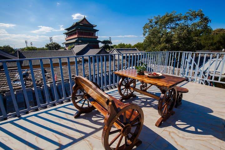 近南锣鼓巷,后海,故宫 Imperial Palace一居室5mins to subway的三层露台 - 北京东城区 - Casa