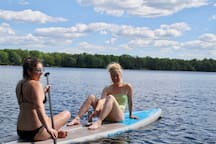 Come chill on one of our many paddle boards