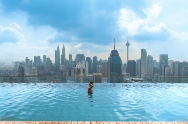 Infinity Pool with KLCC view