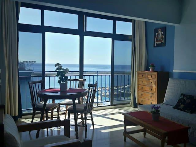 Cozy studio apartment with beautiful sea views.