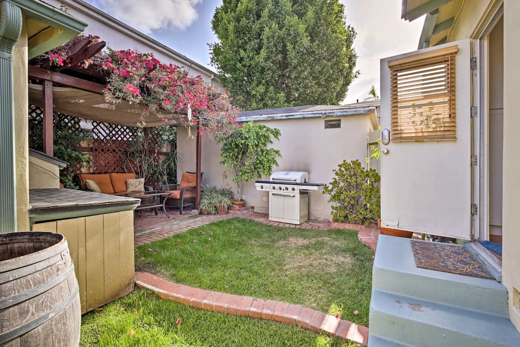 Watch the California sun sets from your private courtyard,